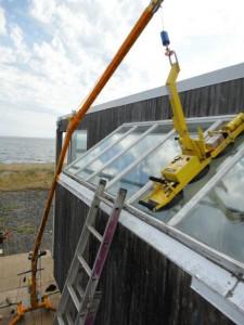 Glass installation crane - Glazing - Glazier lifting mini crane
