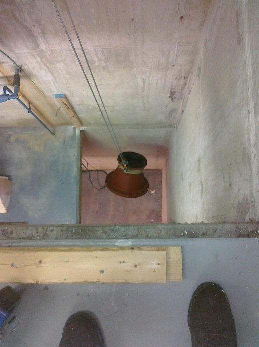 Lowering into tight space